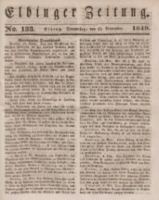 Elbinger Zeitung, No. 133 Donnerstag, 15. November 1849
