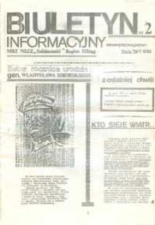 """Biuletyn Informacyjny MKZ NSZZ """"Solidarność"""" Elbląg, nr 2/1981"""