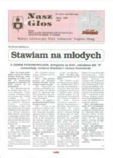 """Nasz Głos. Biuletyn Informacyjny NSZZ """"Solidarność"""" Regionu Elbląskiego, 1995, nr 3"""