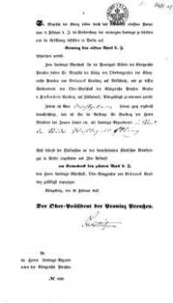 Se. Majestat der König haben durch das Allerhöchst erlassene Patent...