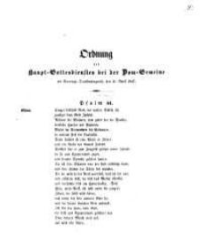 Ordnung des Haupt-Gottesdienstes bei der Dom-Gemeine Am Sonntage Quasimodogeniti, den 11. April 1847