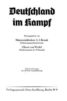 Deutschland im Kampf, 1942, Nr 69/70.