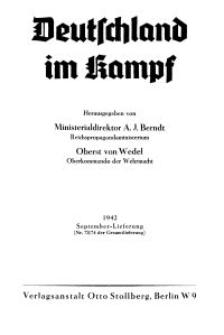Deutschland im Kampf, 1942, Nr 73/74.
