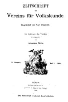Zeitschrift des Vereins für Volkskunde, 18. Jahrgang, 1908, Heft 2.
