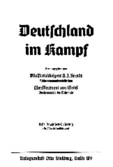 Deutschland im Kampf, 1939, Nr 7.