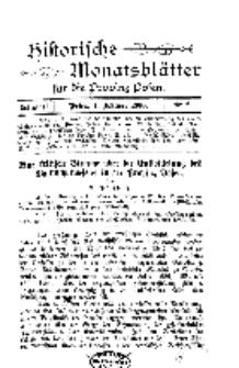 Historische Monatsblätter für die Provinz Posen, Jg. 1, 1900, Nr 2.
