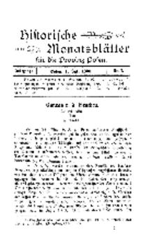 Historische Monatsblätter für die Provinz Posen, Jg. 1, 1900, Nr 7.