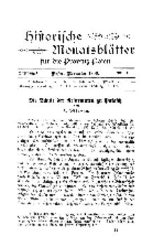 Historische Monatsblätter für die Provinz Posen, Jg. 1, 1900, Nr 11.