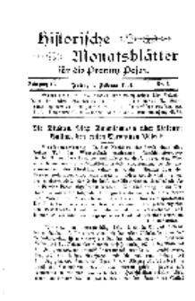 Historische Monatsblätter für die Provinz Posen, Jg. 2, 1901, Nr 2.