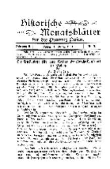 Historische Monatsblätter für die Provinz Posen, Jg. 2, 1901, Nr 3.