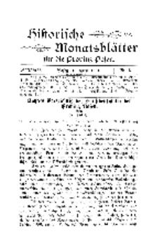 Historische Monatsblätter für die Provinz Posen, Jg. 2, 1901, Nr 4.