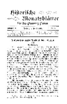 Historische Monatsblätter für die Provinz Posen, Jg. 2, 1901, Nr 6.