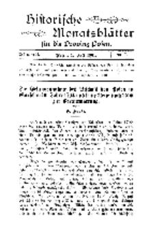 Historische Monatsblätter für die Provinz Posen, Jg. 2, 1901, Nr 7.