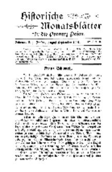 Historische Monatsblätter für die Provinz Posen, Jg. 2, 1901, Nr 8/9.