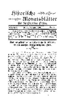 Historische Monatsblätter für die Provinz Posen, Jg. 2, 1901, Nr 12.