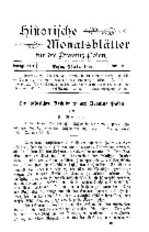Historische Monatsblätter für die Provinz Posen, Jg. 3, 1902, Nr 10.