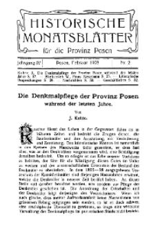 Historische Monatsblätter für die Provinz Posen, Jg. 4, 1903, Nr 2.