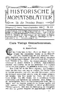 Historische Monatsblätter für die Provinz Posen, Jg. 5, 1904, Nr 8/9.