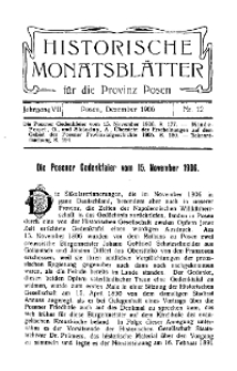 Historische Monatsblätter für die Provinz Posen, Jg. 7, 1906, Nr 12.