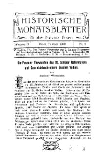 Historische Monatsblätter für die Provinz Posen, Jg. 9, 1908, Nr 2.