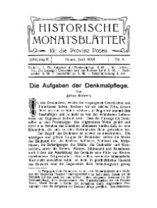 Historische Monatsblätter für die Provinz Posen, Jg. 10, 1909, Nr 6.