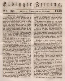 Elbinger Zeitung, No. 108 Montag, 17. September 1849