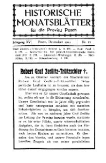 Historische Monatsblätter für die Provinz Posen, Jg. 15, 1914, Nr 12.
