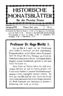 Historische Monatsblätter für die Provinz Posen, Jg. 16, 1915, Nr 6.