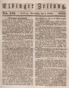 Elbinger Zeitung, No. 115 Donnerstag, 4. Oktober 1849