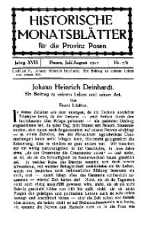Historische Monatsblätter für die Provinz Posen, Jg. 18, 1917, Nr 7/8.