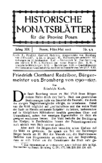 Historische Monatsblätter für die Provinz Posen, Jg. 19, 1918, Nr 3/5.