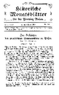 Historische Monatsblätter für die Provinz Posen, Jg. 20, 1919, Nr 2/3.