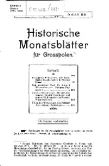 Historische Monatsblätter für die Provinz Posen, Jg. 21, 1921, Nr 3/4.