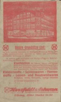 Herzfeld & Schwan, Elbing. Alter Markt 51-52 - rachunek