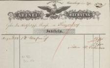 Arznei-Rechnung - rachunek z apteki (1862)