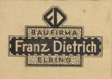 Baufirma Franz Dietrich Elbing - wizytówka firmy