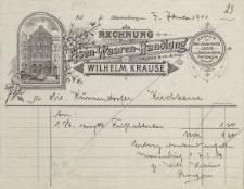 Rechnung: Eisen-Waaren-Handlung von Wilhelm Krause (rachunek)