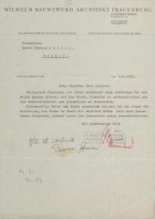 Wilhelm Baumewerd Architektur Frauenburg - pismo