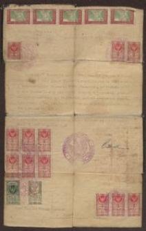 Zezwolenie Starostwa Trembowli - dokument urzędowy