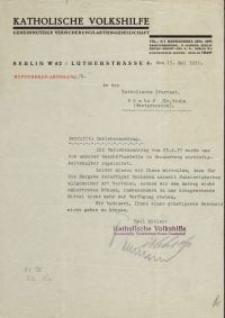 Katholische Volkshilfe - pismo