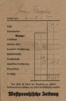 Koperta - rachunek (J. Kleppke)