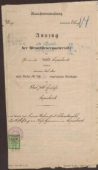 Katasterverwaltung - wyciąg hipoteczny