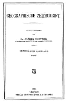 Geographische Zeitschrift, 30. Jhrg., 2. Heft 1924