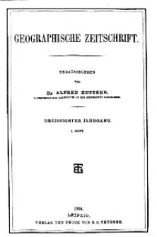 Geographische Zeitschrift, 30. Jhrg., 3. Heft 1924