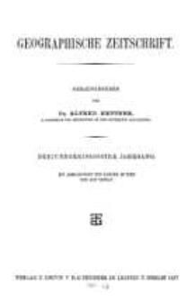 Geographische Zeitschrift, 33. Jhrg.