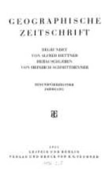 Geographische Zeitschrift, 41. Jhrg.