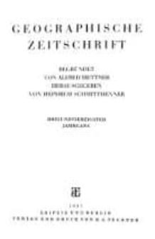 Geographische Zeitschrift, 43. Jhrg.