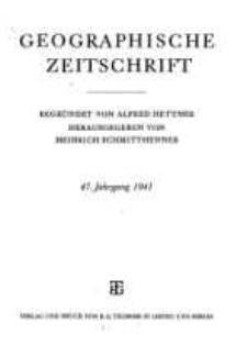 Geographische Zeitschrift, 47. Jhrg.