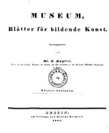 Museum, Blätter für bildende Kunst, Inhalt, 2 Jhrg.