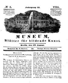 Museum, Blätter für bildende Kunst, Nr. 2, 13 Januar 1834, 2 Jhrg.